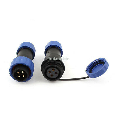 H● SD20-4 Pair Waterproof Aviation Cable Connector+Socket 4Pin IP68