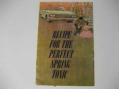 "1963 Chevrolet ""Recipe for the Perfect Spring Tonic"" Mailer Brochure"
