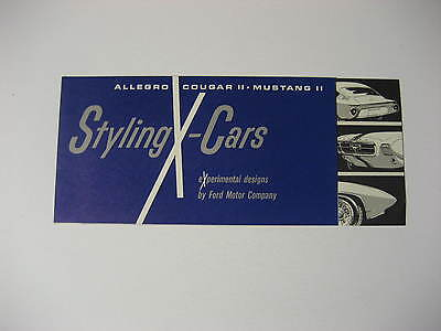 1965 Ford Styling X-Cars Experimental Designs Brochure.....Mustang, Cougar