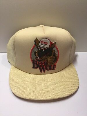 1980's Coors Light Beer Wolf Vintage Trucker Hat Brand New