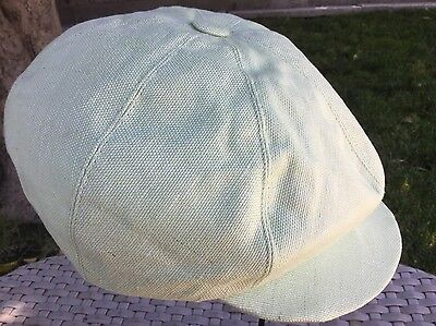 ab2cd146 ANTHONY PETO FRANCE 8/4 NATURAL WHITE NEWSBOY CAP BAKERS BOY CABBIE M 57cm