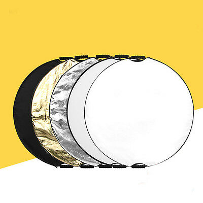 """5 in1 24"""" Light Mulit Collapsible Disc For Photography Panel Reflector Diffuser"""