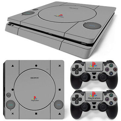 For (PS4 SLIM) PlayStation 4 Skin Sticker PLAYSTATION 1 PS1 Retro Style  Vinyl