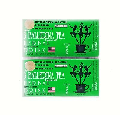 2 X 3 Ballerina Tea EXTRA STRENGTH 18 Tea Bags Slim Tea Diet Tea Weight Loss