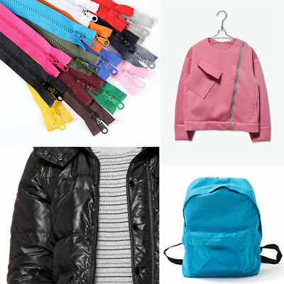 Plastic Teeth Chunky Open Ended Zip 73cm Length For Coat Down Jacket