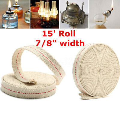 7/8'' 15ft Flat Cotton Oil Lamp Wick Roll For Oil Lamps and Lanterns DIY 4.5m