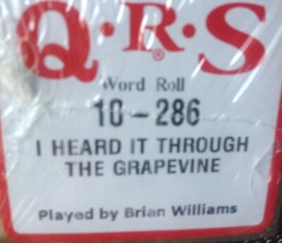 I HEARD IT THROUGH THE GRAPEVINE  Credence Clearwater Revival  NEW PIANOLA  ROLL