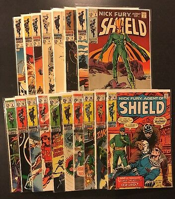 Complete Nick Fury Agent of SHIELD silver set 1 - 18 + extras  Mid to High Grade