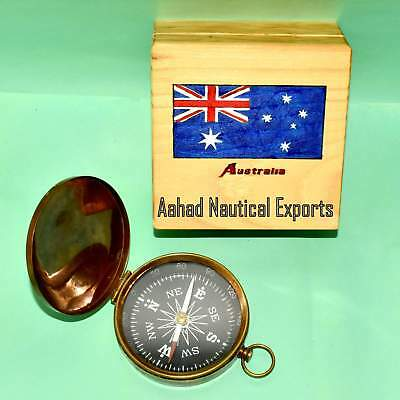 Brass Navigation Marine Camping Compass Vintage Nautical Compass Gift 3""