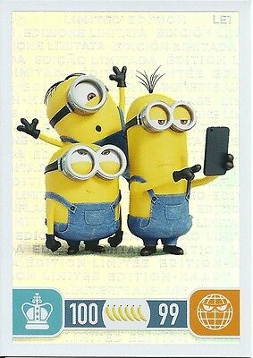 Trading Cards Topps Minions n° LE1 NUOVA