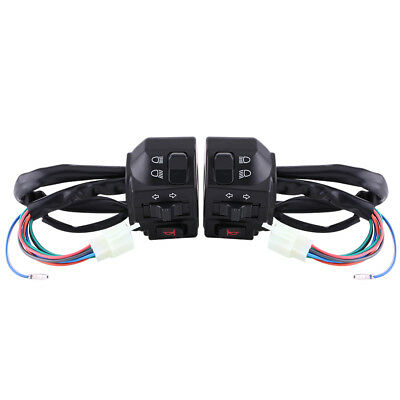 Pair 7/8'' 22mm Motorcycle ATV Handlebar Turn Signal Horn Switch Gear Control DH