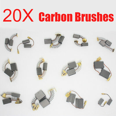 20pcs Carbon Brushes Various Size Repairing Part Tool For Generic Electric Motor