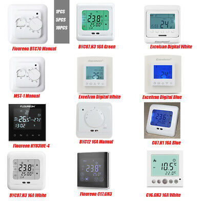 10pcs lcd 16a touch screen thermostat raumthermostat fu bodenheizung wandheizung eur 133 60. Black Bedroom Furniture Sets. Home Design Ideas