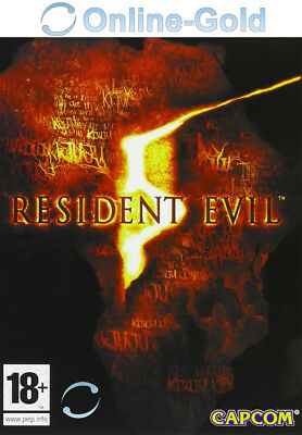Resident Evil 5 V Biohazard 5 Key - Steam Digital Code - PC Game [EU][DE]