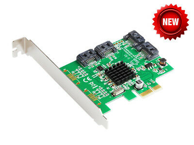 IOCrest 4 Port SATA III (6Gb/s) PCI-e Controller Card (Low Profile | Non RAID)