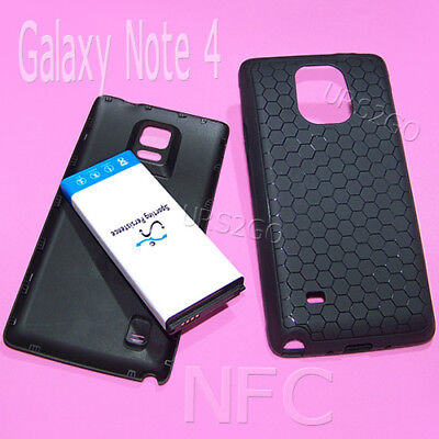Long Lasting 11900mAh NFC Battery Cover Case For Samsung Galaxy Note 4 CellPhone