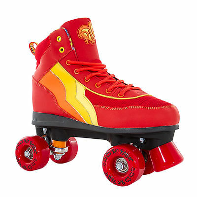 SFR Rio Roller Red Orange Yellow SALSA Quad Skates Retro