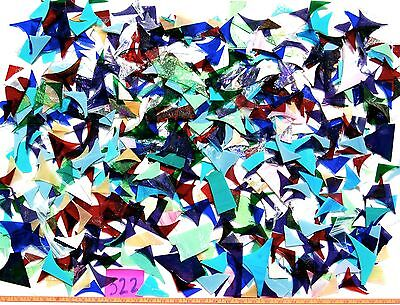 12+Pounds STAINED GLASS SCRAP PIECES Mixed Color Texture MOSAIC ART CRAFT 322