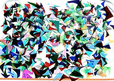 12+Pounds STAINED GLASS SCRAP PIECES Mixed Color Texture MOSAIC ART CRAFT 320
