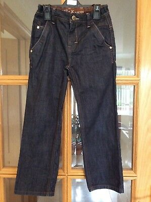 Next, Boys Dark Blue Denim Jeans, age 7 years. Excellent condition.