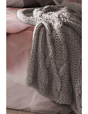 NEW Ted Baker Chunky Knit Throw Grey