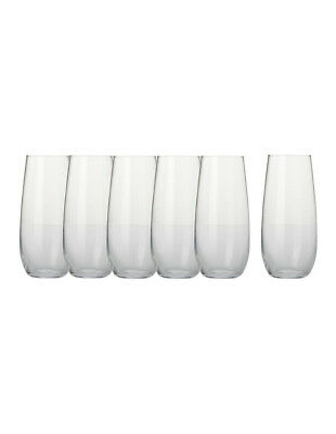 NEW Maxwell & Williams Mansion Stemless Flute (230ML) Set Of 6 - Gift Boxed