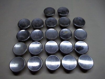 Lot of 22 vintage round chrome drawer pulls