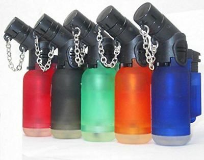 5 Pack 45 Degree Angle Jet Flame Butane Torch Lighter Cigar Refillable Windproof