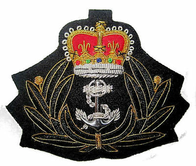 Uk Royal Navy Chaplain Officer's Cap Hat Badge Queen Crown Hi Quality Cp Made