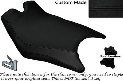 WHITE /& BLACK CUSTOM FITS KTM 1190 ADVENTURE 13-14 REAR LEATHER SEAT COVER