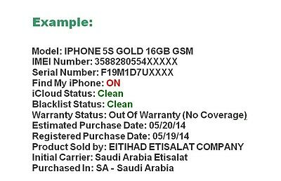 IPHONE CLEAN / Blacklisted / Blocked / Barred Status