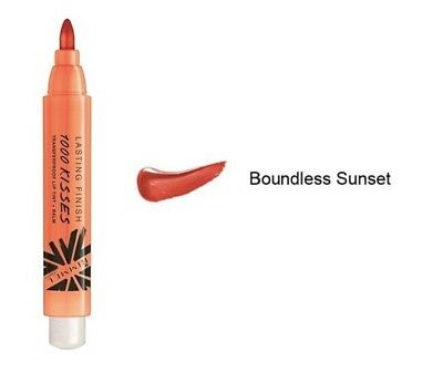 Rimmel 1000 Kisses Lip Tint & Balm - 610 Boundless Sunset - Orange Coral Shade