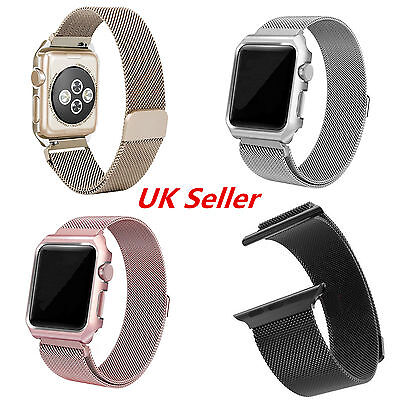 New Metal Magnetic Stainless Steel Wrist Band Strap For iWatch Apple Watch UK
