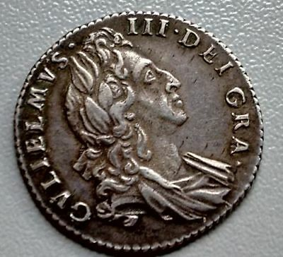 (149)  King William lll  Sixpence 1697 first bust