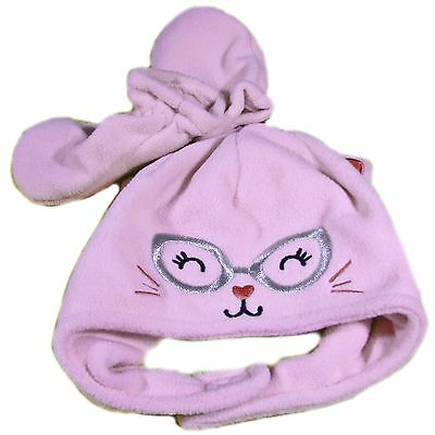 Jumping Beans 6-18 Months Pink Kitty Hood and Mitts