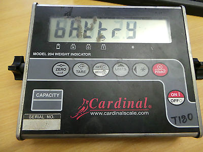 Cardinal Model 204 Weight Indicator, Model 204-V