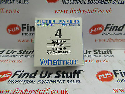 Whatman 1004-042 Grade 4 Filter Paper , 42.5mm - New In Sealed Pack (PK)