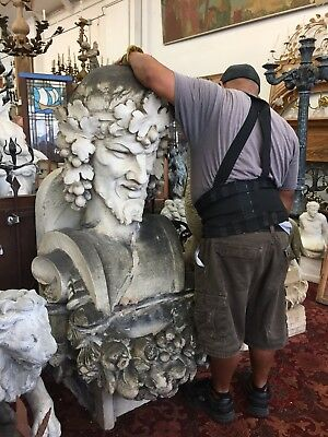 Old Antique Statue Architectural Bacchus  God Of Wine
