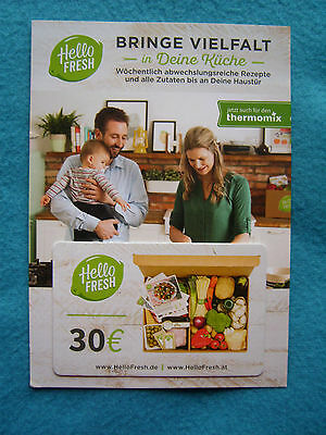 30 00 euro hellofresh gutschein karte kochbox leichter kochen besser essen eur 1 00. Black Bedroom Furniture Sets. Home Design Ideas