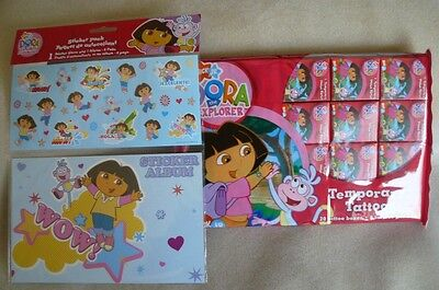 NEW Dora The Explorer STICKER ALBUM WITH STICKER PACK & 20 BOXES TATTOOS