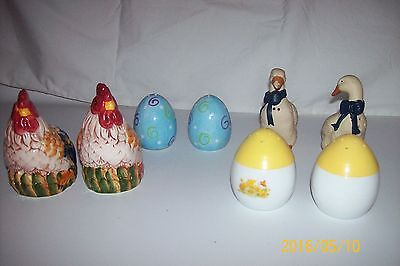 Lot of 4 Sets Vintage Salt and Pepper Shakers S/P
