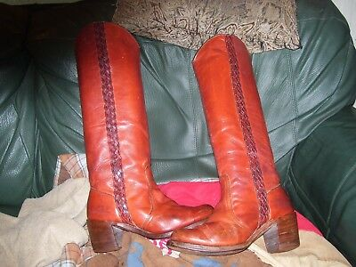 FRYE Vintage 70s Tall Knee High Riding Boots Women Leather 5.5 B