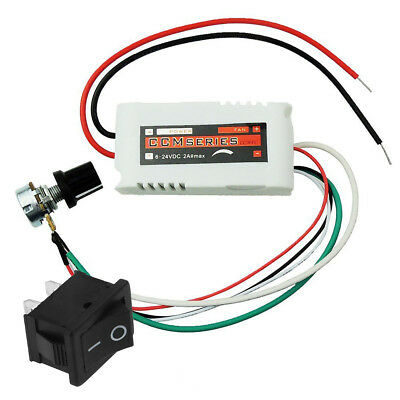 CCMFC 12V DC Motor Speed Controller Adjustable Variable Speed Switch for DC Fan