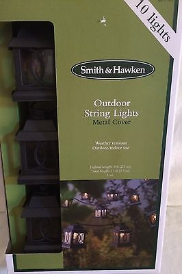 10 Smith Hawken Black Metal Lantern Rv In Outdoor Patio Party String Lights