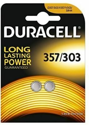 New 2 X Duracell 357-303 1.5V Button Coin Watch Battery D357H D357/303 V303 Sr44