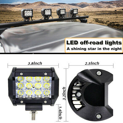 "Hot 4"" 36W LED Work Light Bar Spot Offroad 4WD Fog ATV SUV Driving Lamps Lights"