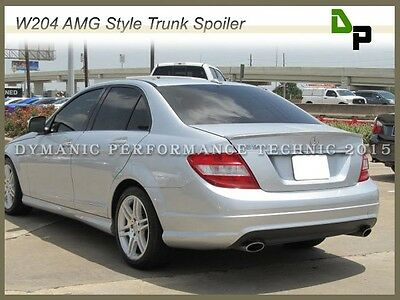 #775 Silver AMG Style Trunk Spoiler Wing For M-BENZ W204 C300 C350 Sedan 08-14