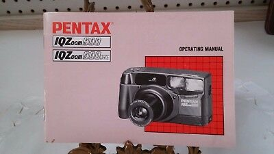 OPERATING MANUAL FOR PENTAX IQZoom 900 OR 900 DATE CAMERA