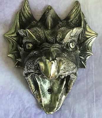 Dragon Head Bottle Opener Silver Tone Gargoyle