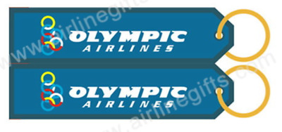 13342 Olympic Airlines Aviation Fabric Keyring Key Ring